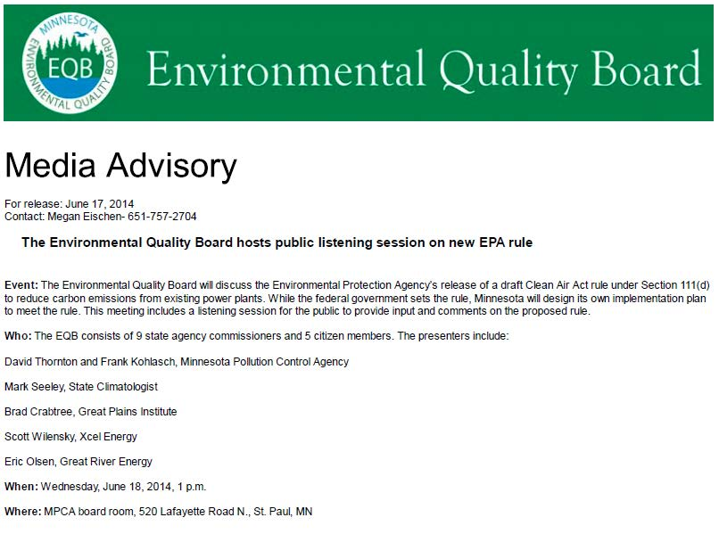 EQB hosts listening session on new EPA rule