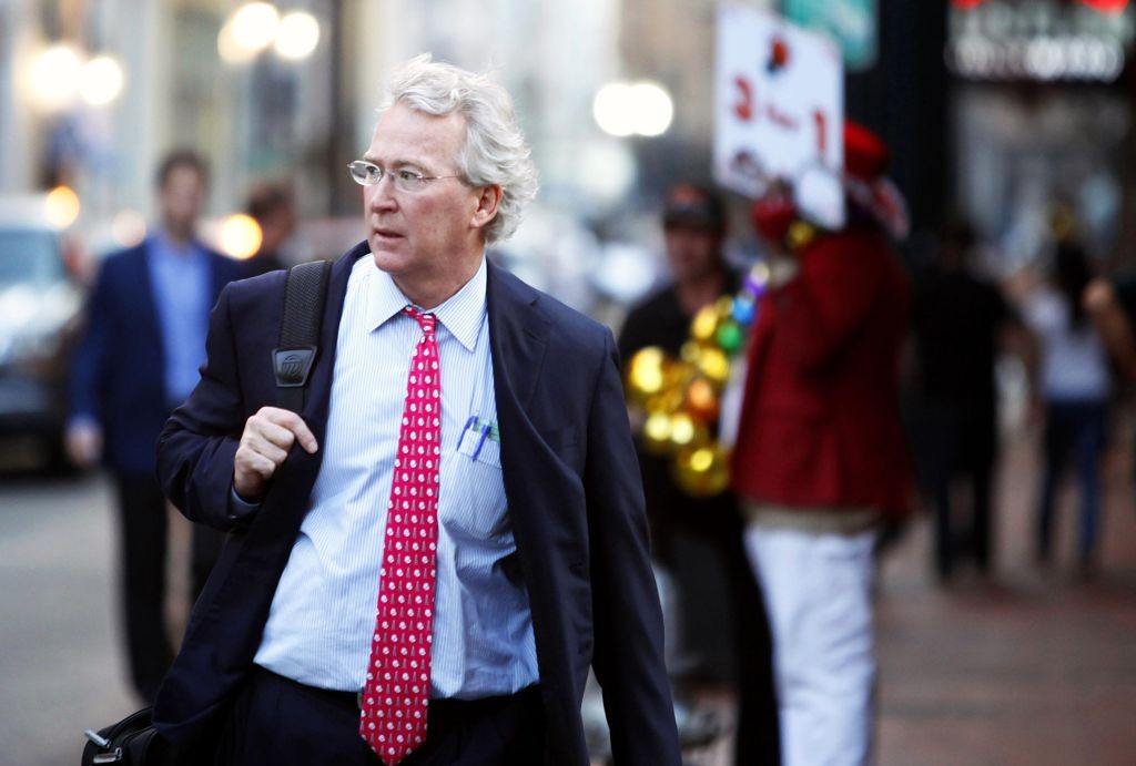 Chief Executive Officer, Chairman, and Co-founder of Chesapeake Energy Corporation Aubrey McClendon walks through the French Quarter in New Orleans, Louisiana March 26, 2012. McClendon visited New Orleans while attending the Howard Weil Annual Energy Conference. REUTERS/Sean Gardner (UNITED STATES - Tags: BUSINESS ENERGY) - RTR2ZZ5R