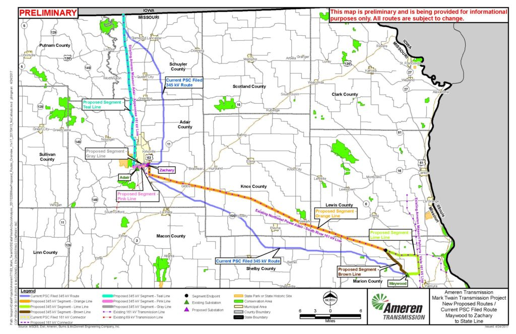 Superior As Recently As April, Ameren Was Proposing New Routes Through Missouri.  Guess Again!